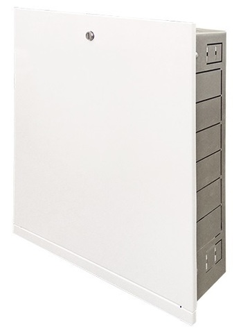 Uni-Fitt ШРВ-1 шкаф коллекторный встраиваемый распределительный 670x125x494 мм (482G1000)