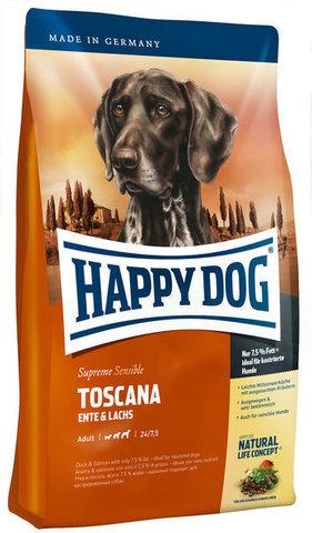 купить Happy Dog Supreme Sensible Adult Toscana сухой корм для взрослых собак от 11 кг, с пониженным уровнем активности, кастрированных и стерилизованных 12.5 кг