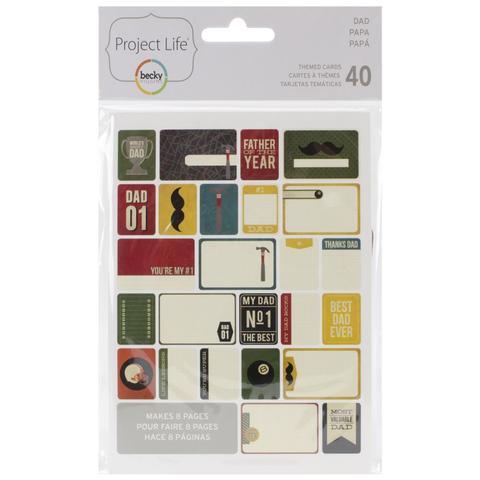 Набор карточек Project Life - Dad 40 шт