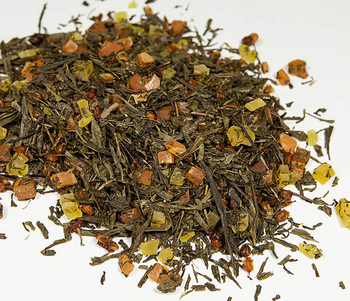 TEA-AR128 Зеленый фруктовый чай «Рыжий Дракон» с облепихой и манго (50 гр) фото 02