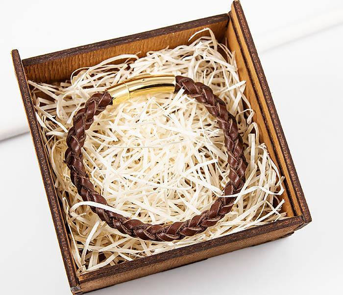 BL786-2 Браслет ручной работы из коричневого кожаного шнура фото 10