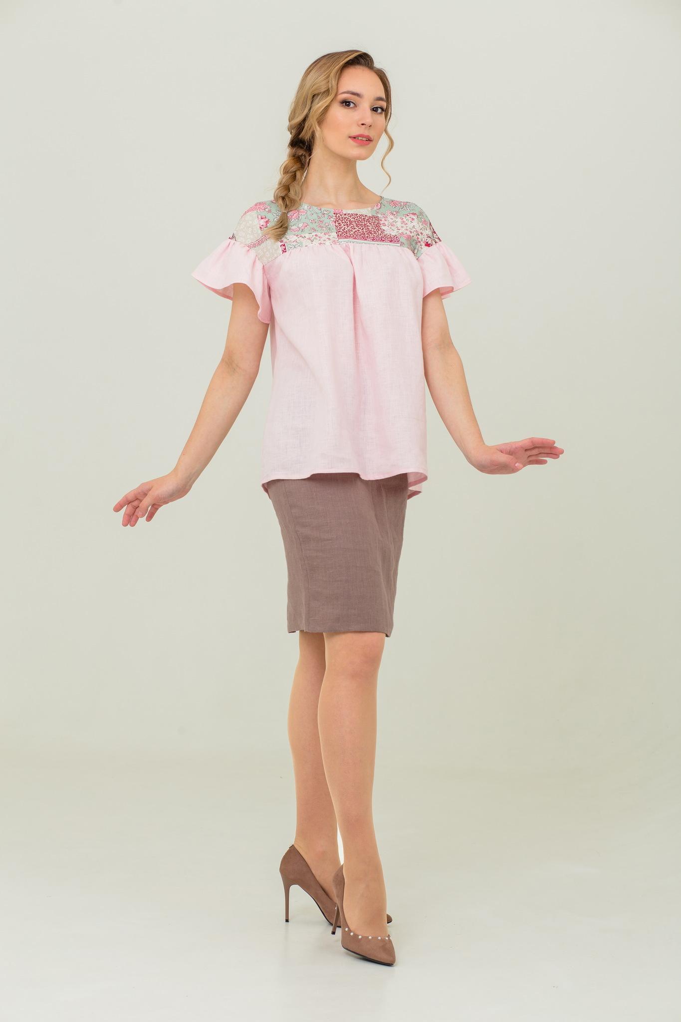 Блуза в русском стиле Сладкая ваниль