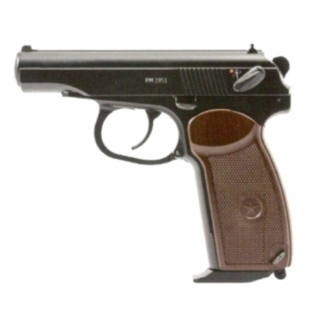 Пистолет пневматический Gletcher PM 1951 Макаров blowback (металлический, подвижный затвор)