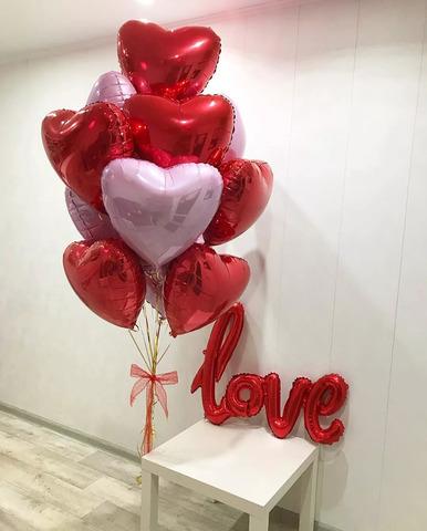 Сет воздушных шаров С любовью