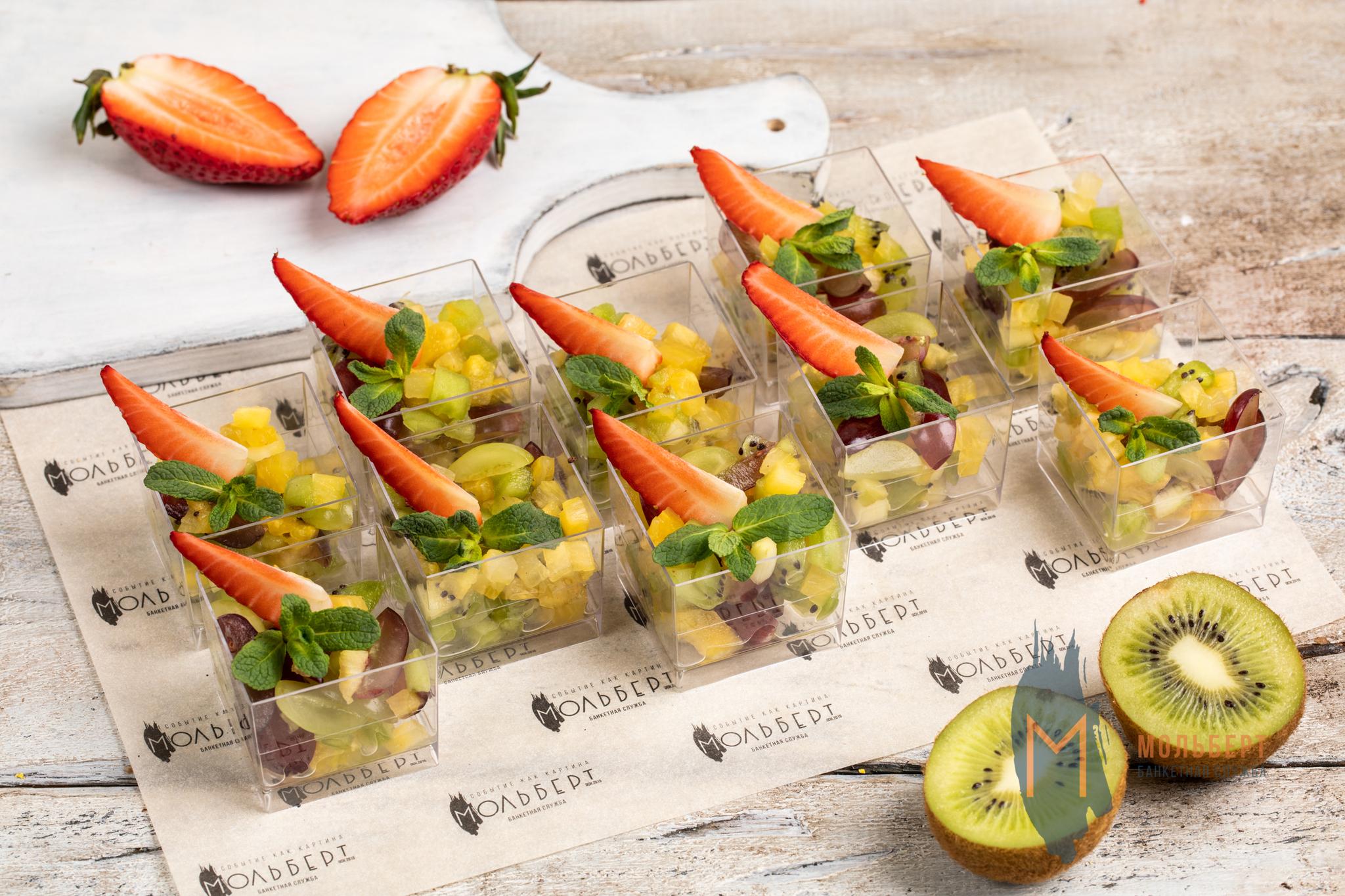 Веррин с фруктовым салатом