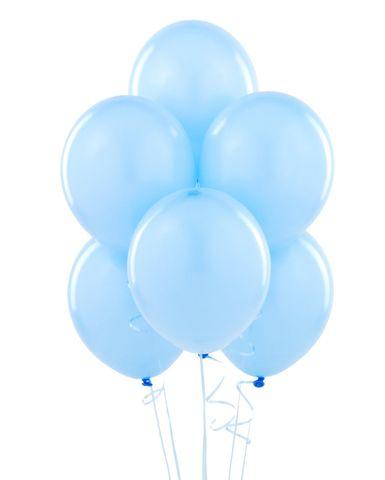 Воздушные шары с гелием голубые