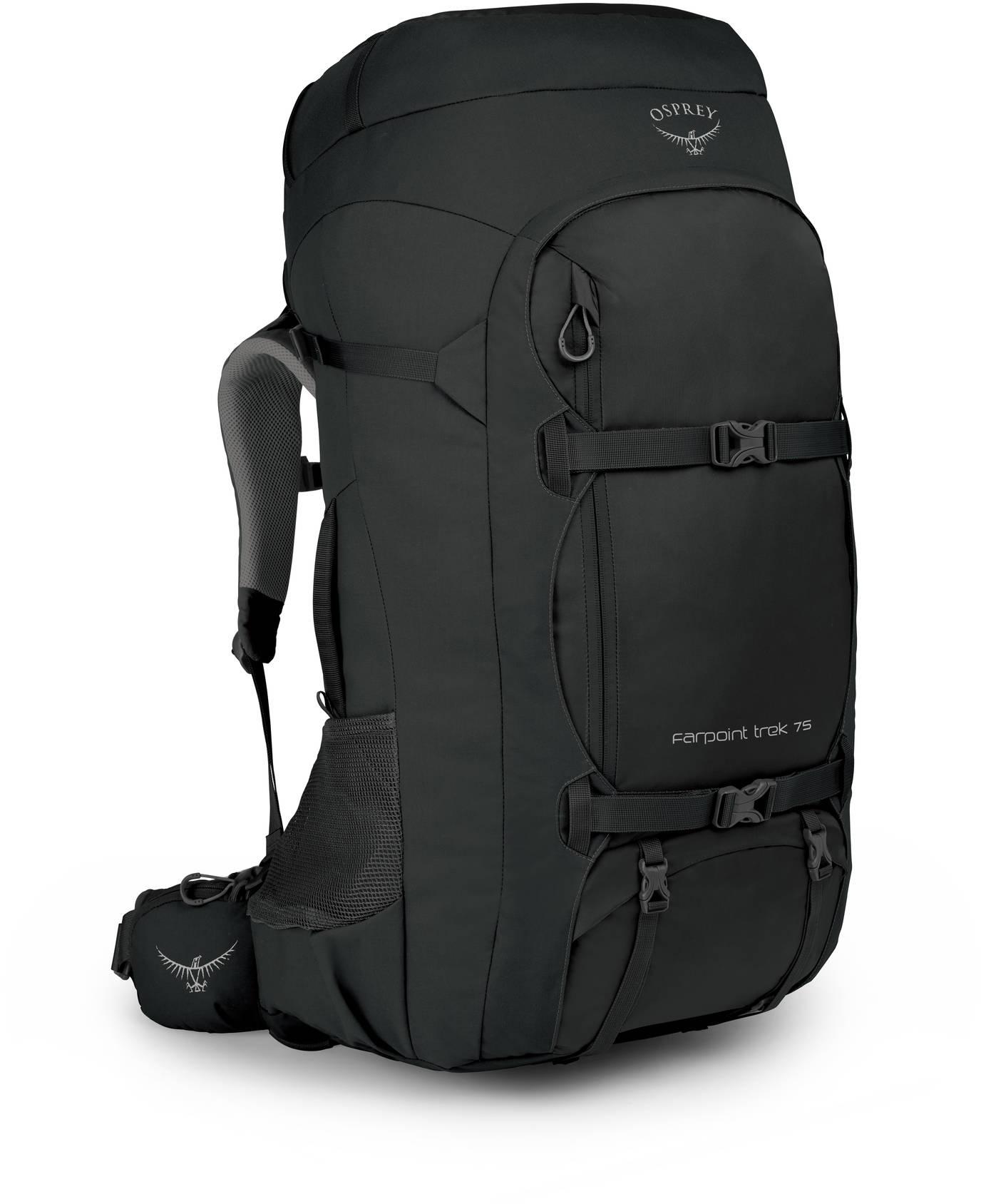 Туристические рюкзаки Рюкзак для путешествий Osprey Farpoint Trek 75 Black Farpoint_Trek_75_F19_Side_Black_web.jpg