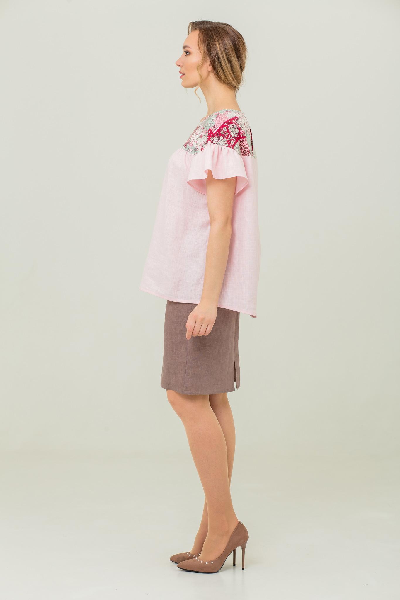Блуза из льна и хлопка на лето Сладкая ваниль
