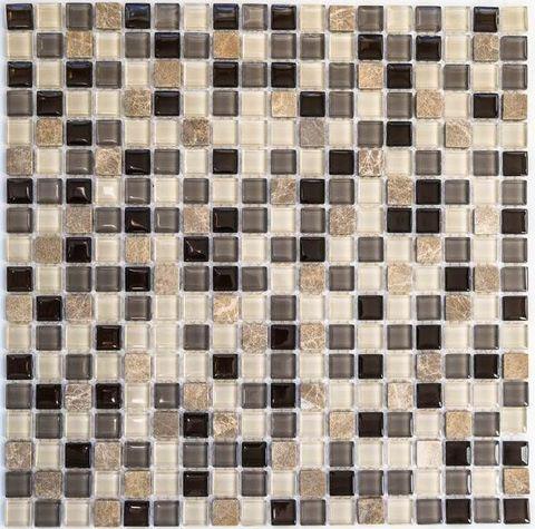 Мозаика стеклянная с камнем Amelia 305х305мм