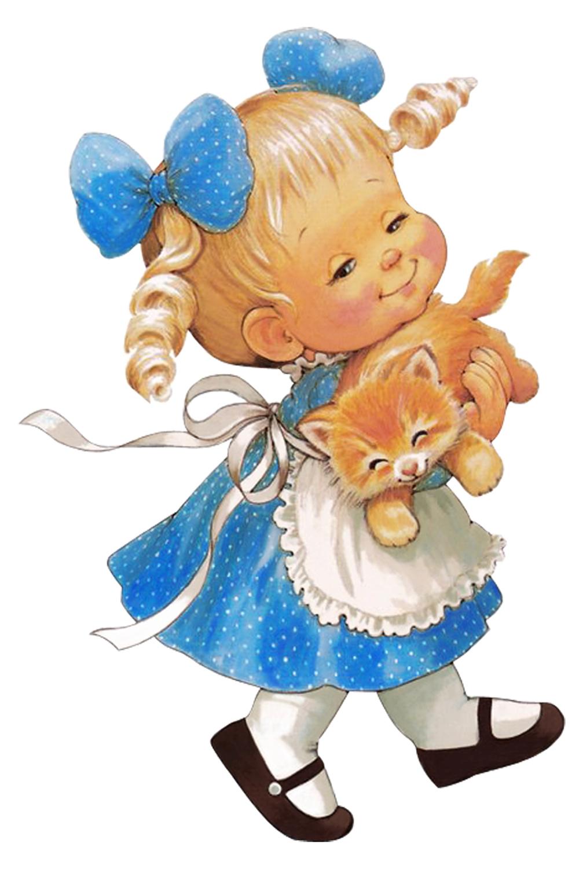 Папертоль Девочка с котенком — главное фото сюжета.