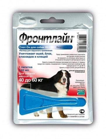 Фронтлайн спот он для собак 40-60 кг