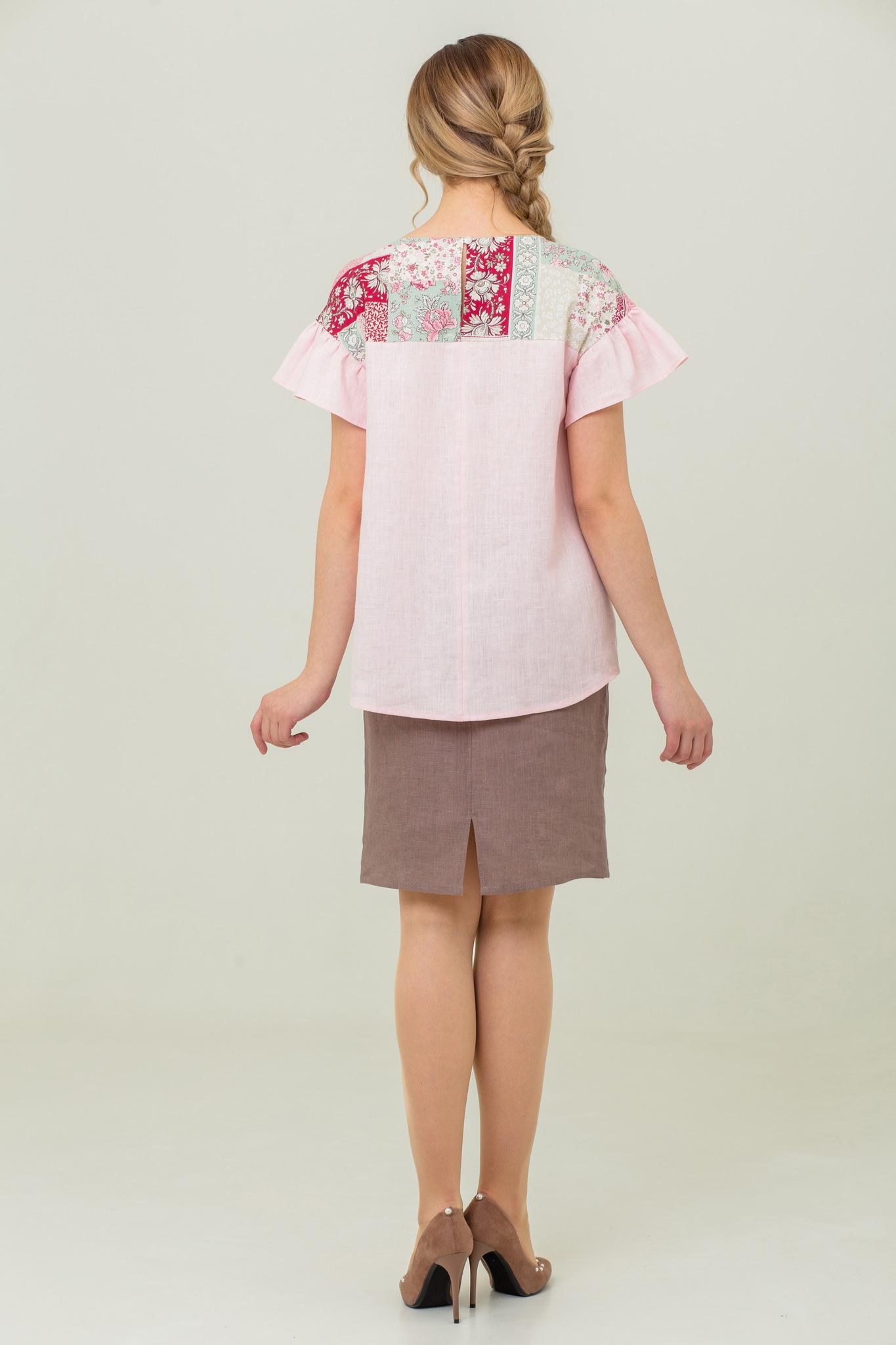Блуза традиционная из льна Сладкая ваниль