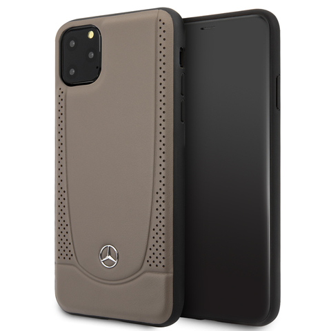 Mercedes / чехол для телефона iPhone 11 Pro Max | Urban Smooth/perforated Hard Leather Brown