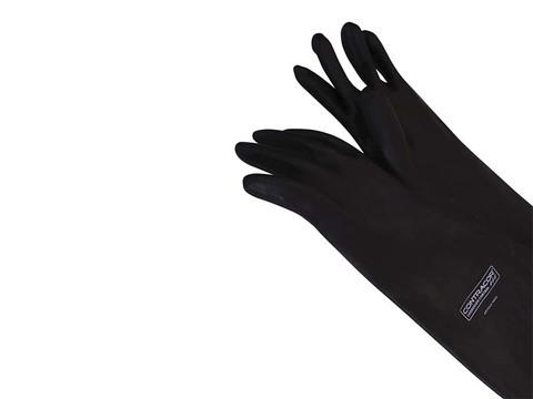 Перчатки резиновые, 600 мм, текстильная подкладка, гладкие, левая/правая, RGS