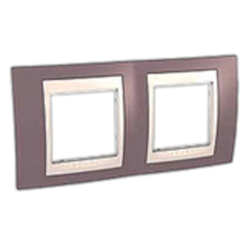 Рамка на 2 поста. Цвет Лиловый/Бежевый. Schneider electric Unica Хамелеон. MGU6.004.576