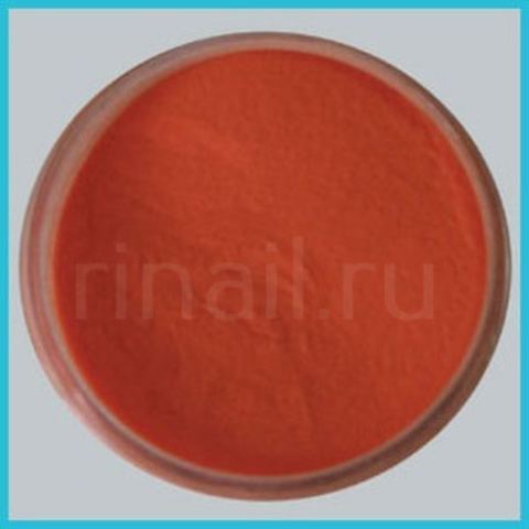 Цветная акриловая пудра Темно оранжевая