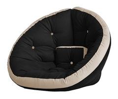 Кресло Farla Lounge Чёрное с бежевым