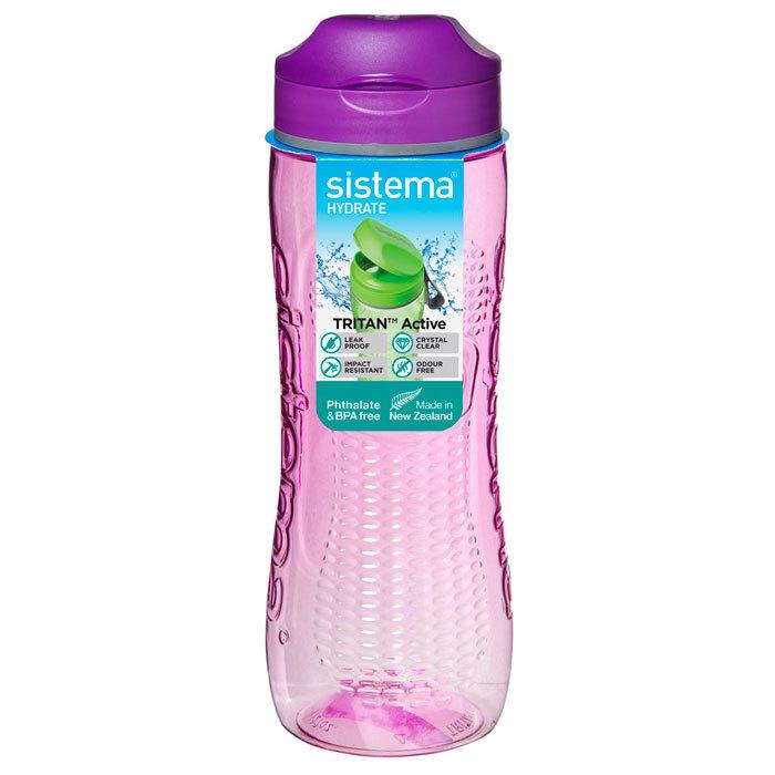 """Бутылка для воды Sistema """"Hydrate"""", Тритан, 800 мл, цвет Фиолетовый"""