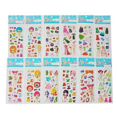 Набор наклеек для девочки/мальчика (7х14 см.) в ассортименте (в пакете), 47890