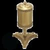 Мусорное ведро 5л.  Migliore Elisabetta D-35cm, H-60cm. ML.ELB-60.160 бронза