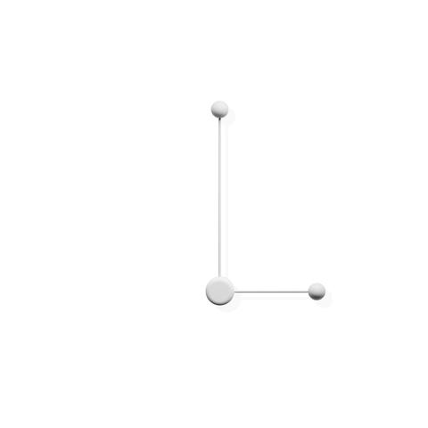 Настенный светильник копия Pin 1694 by Vibia (белый)