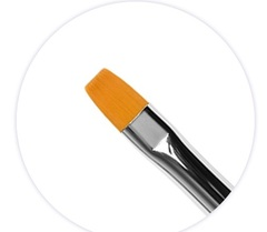 Кисть плоская для моделирования ногтей гелем №6