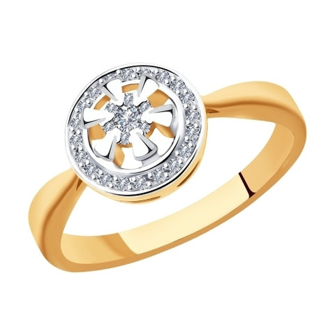 1011891- Кольцо из золота с бриллиантами
