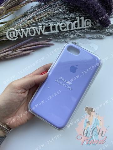 Чехол iPhone 7/8 Silicone Case Full /glycine/ гортензия