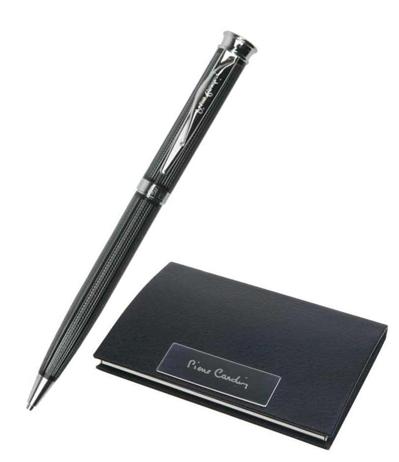 Набор подарочный Pierre Cardin - Black ST, визитница + шариковая ручка