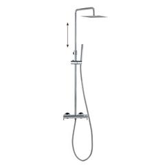 Душевая система с термостатом и тропическим душем для ванны DRAKO 335403RPK225