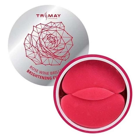 Trimay Rose Wine Brilliant Brightening Eye Patch осветляющие патчи для век с экстрактом розы и красного вина