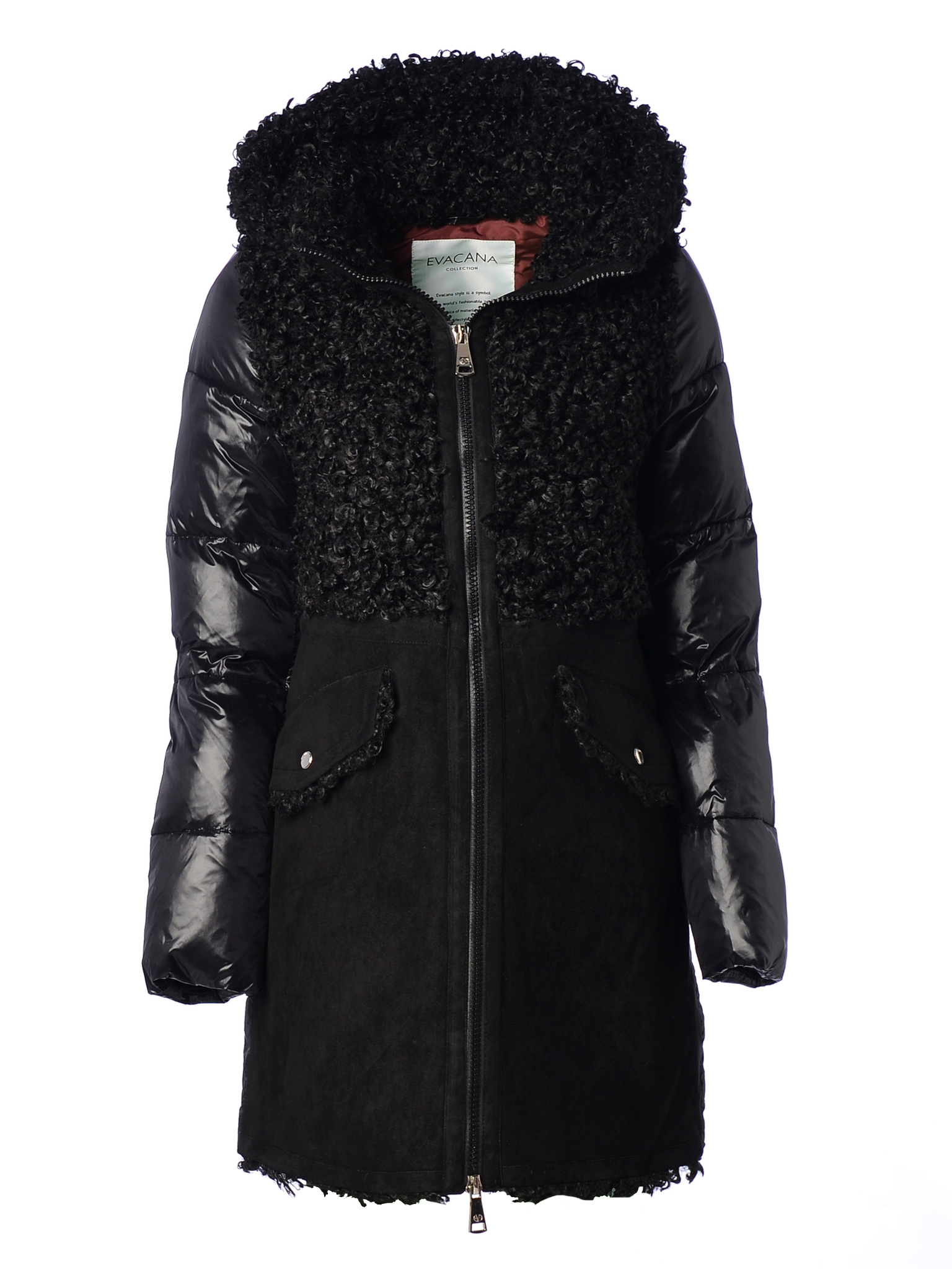 Куртка зимняя EVACANA 21702 (черная)
