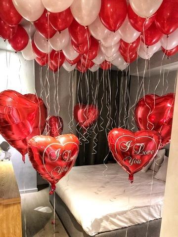 Сет воздушных шаров I Love You
