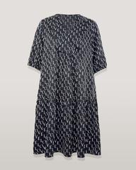 Платье Piena 6564 волан буквы к/р