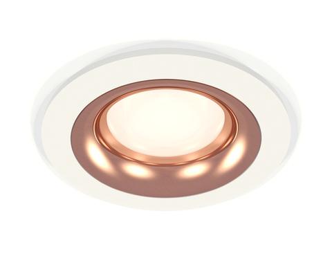 Комплект встраиваемого светильника XC7621006 SWH/PPG белый песок/золото розовое полированное MR16 GU5.3 (C7621, N7015)