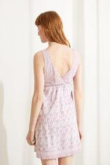 Короткая ночная рубашка из 100 % экологичного хлопка розового цвета