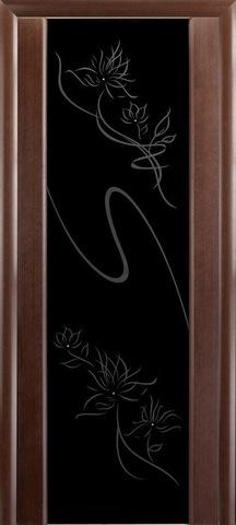 Дверь Модерн (стекло чёрное бриллиант) (венге, остекленная шпонированная), фабрика LiGa
