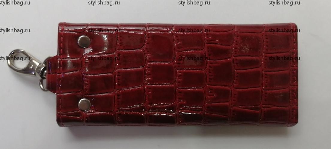 Красная ключница из кожи Karya 8906
