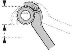 Раздвижной крючковый ключ из спец. стали с носиком
