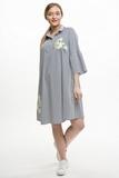 Платье для беременных 08569 полоска/принт цветы