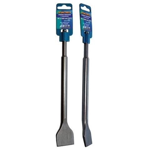 Зубило   SDS-plus плоское ПРАКТИКА 40 х 250 мм , для плитки, наклон 10 градусов (773-804)