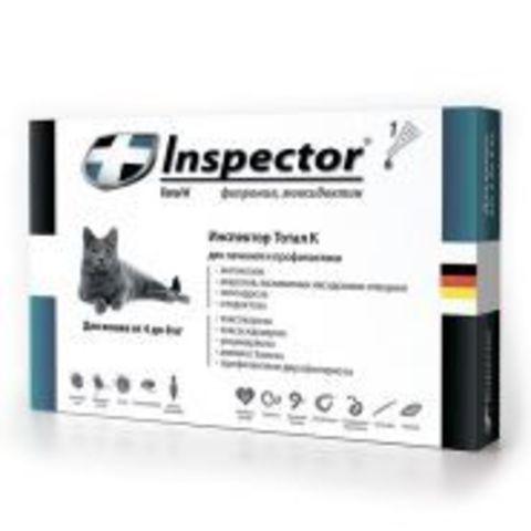Inspector Total К Капли от внешних и внутренних паразитов для кошек 1-4 кг