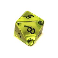 Куб D8 прозрачный: Зеленая скверна