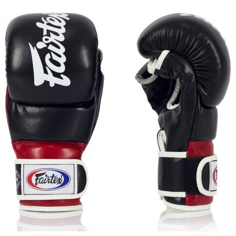 Перчатки MMA Fairtex FGV18 Hybrid Super Sparring Black/Red