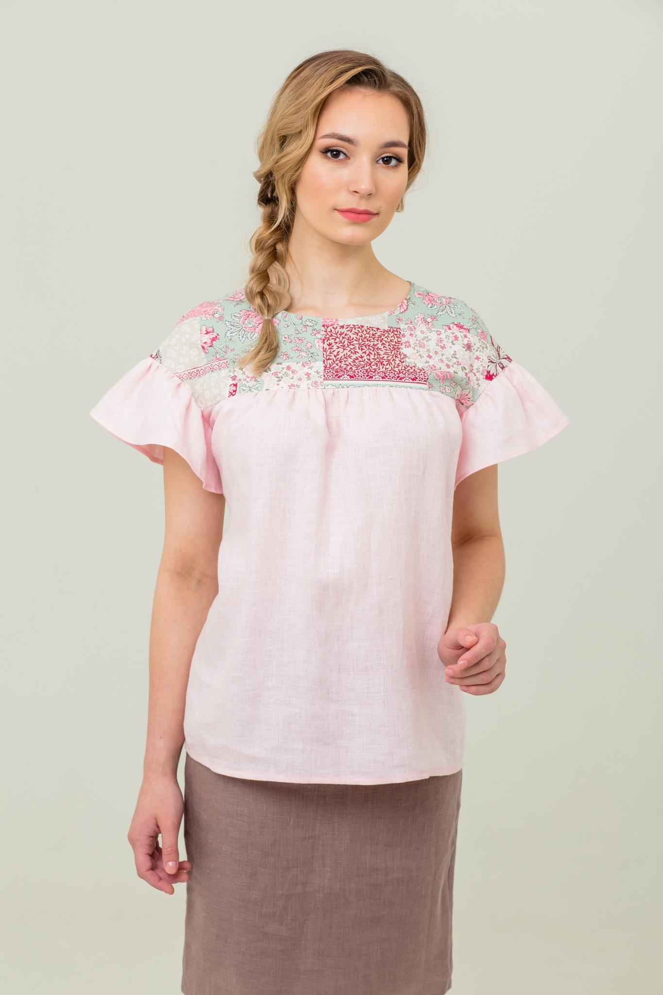 Свободная блуза Сладкая ваниль купить с доставкой