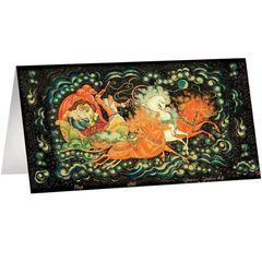 Поздравительная открытка с Палехской миниатюрой