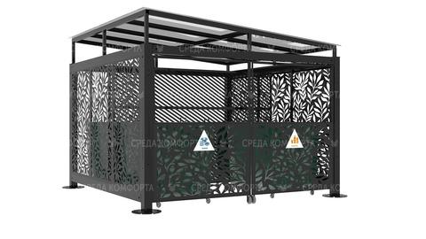 Навес для мусорных контейнеров NVS0028