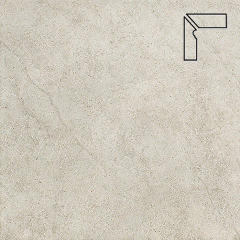 Interbau - Nature Art, Tangra grau/Серебристый, цвет 110 - Клинкерный плинтус ступени левый