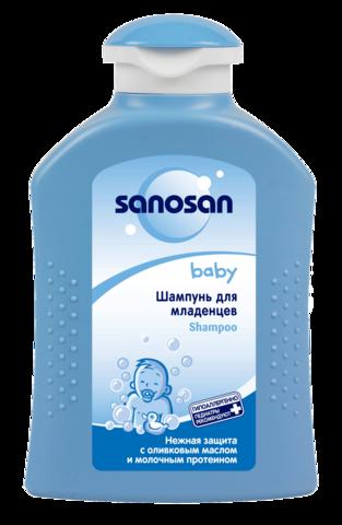 Саносан Baby Шампунь для младенцев с оливковым маслом и молочным протеином