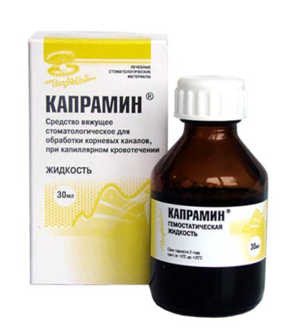 Кровоостанавливающая жидкость с антисептиком Капрамин 30 мл (жидкость)